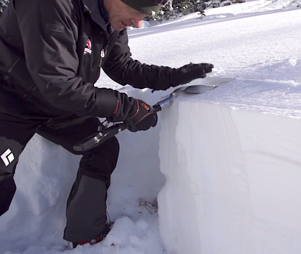 snow pit technique