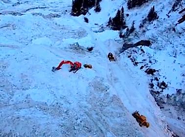 valdez avalanche clean up ak