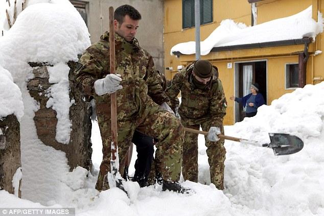 italian army snow removal