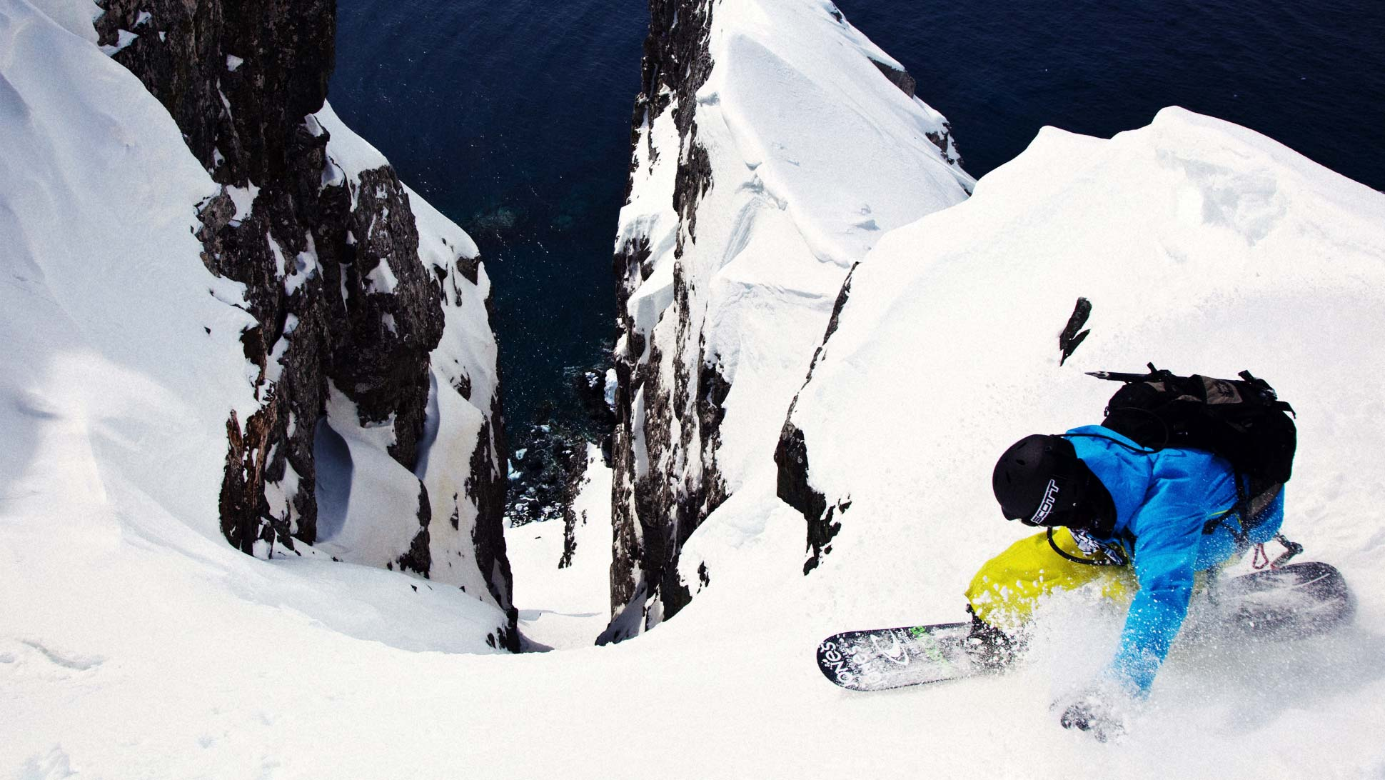 Jeremy Jones skiing the steep