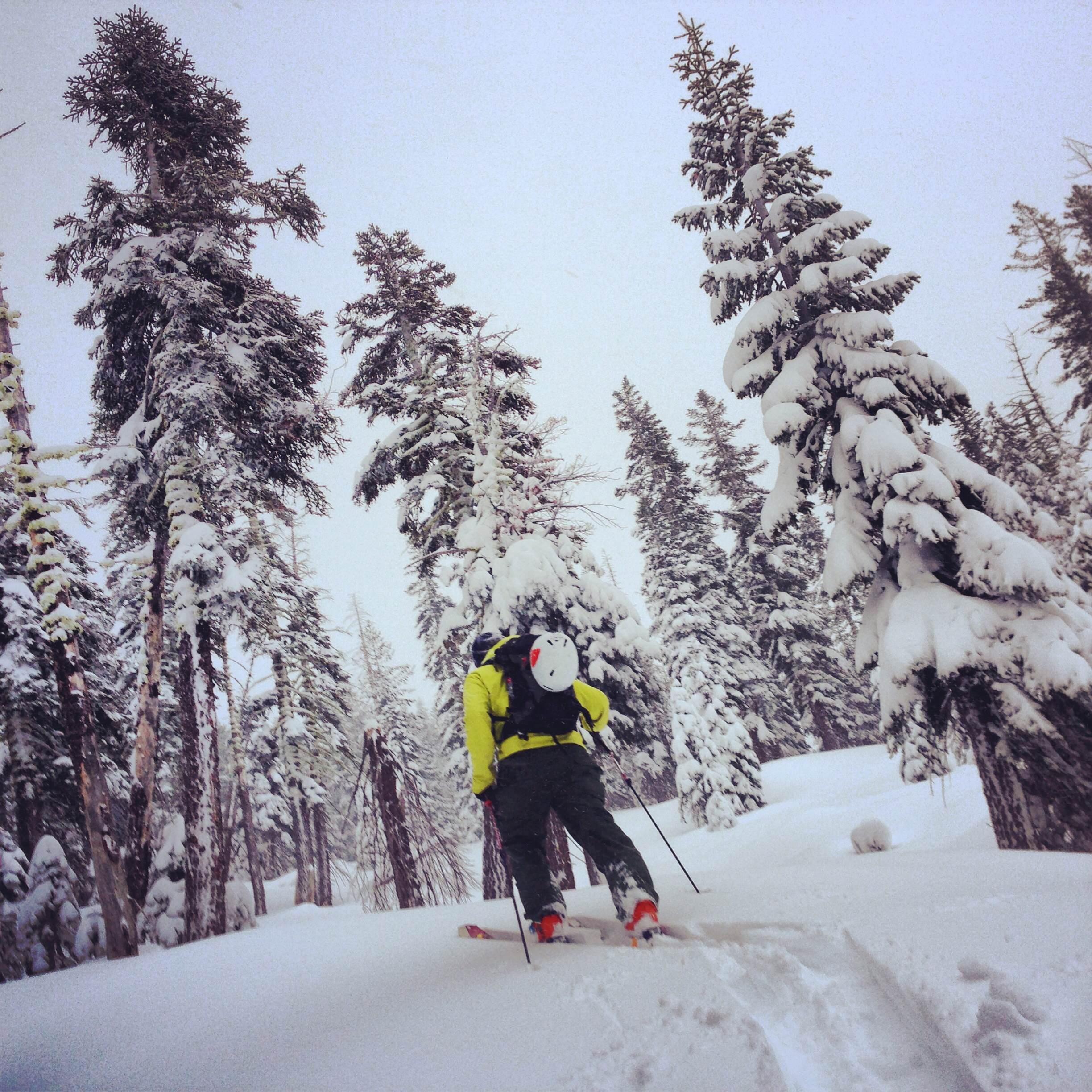 The snow was soft and the skinning good