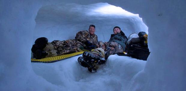 snow cave living