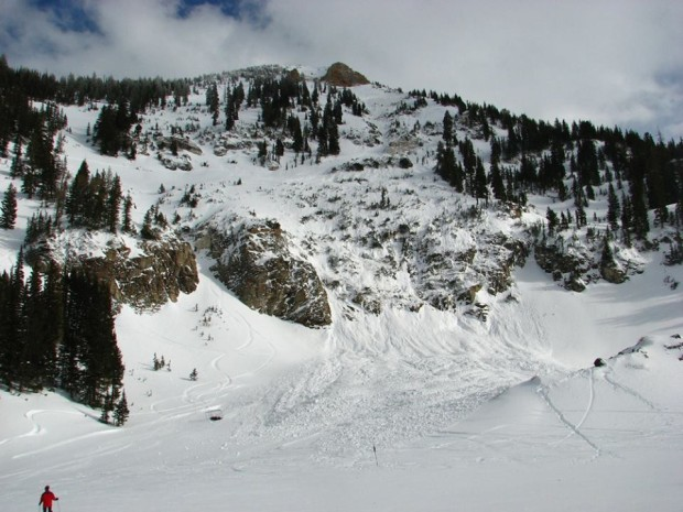 The huge 1,000 foot long avalanche in Baldy at Snowbird on March 3rd, 2014