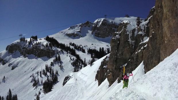 Earning the right to ski Casper Bowl