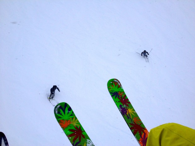 Killer skis, killer skiing.