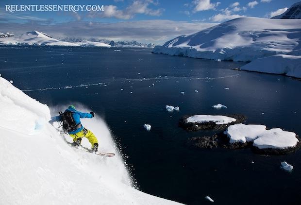 Jeremy Jones in Antarctica.  photo: restlessengergy.com