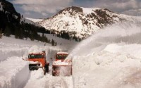 Tioga Pass snow clearing on a good year.
