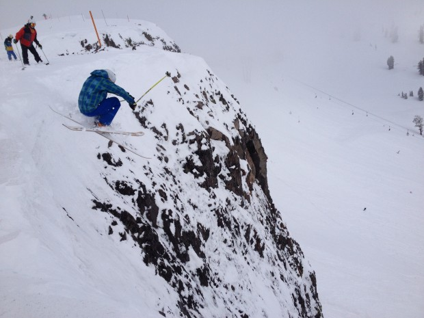 The Dan getting air into Extra Chute.