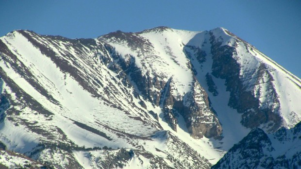 Bloody Mountain and Couloir today in Mammoth