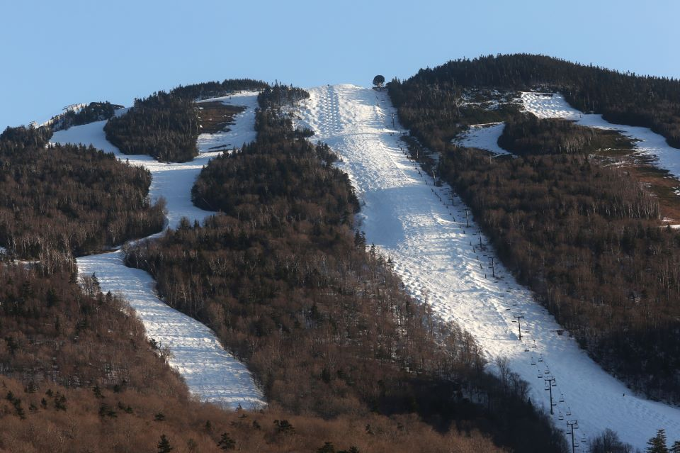 Killington in springtime = heaven for mogul skiers.