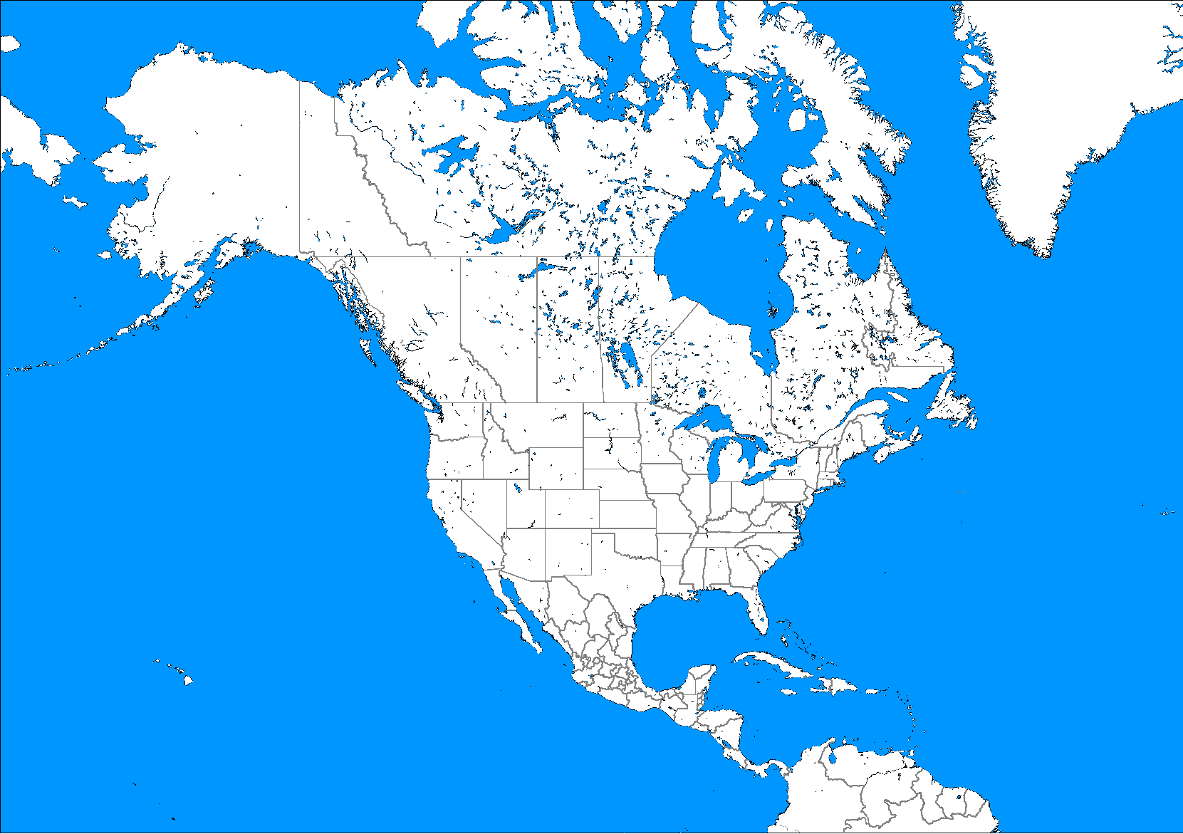 photo about North America Printable Map identify North-The usa-Political-Blank-Map - SnowBrains