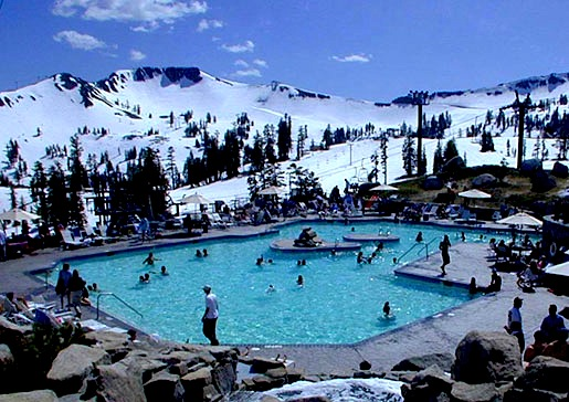 Squaw Valley has a pool and hot tub at 8,200 feet. Beat that.
