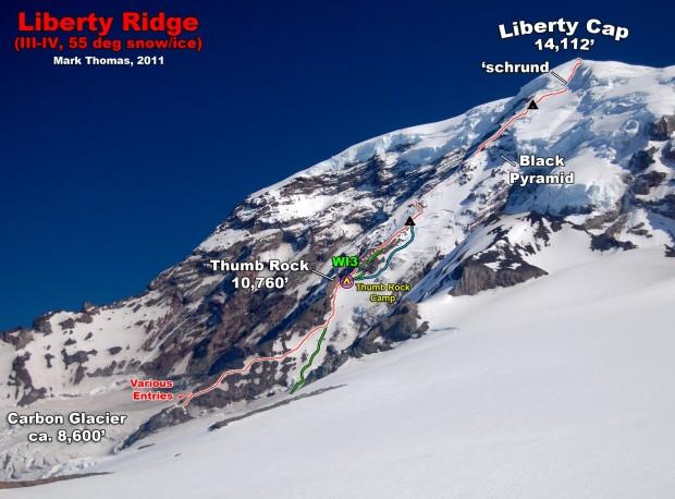 Liberty Ridge Route.  Mt. Rainier, WA.