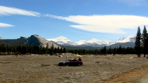 Some dude drove out into Toulomne Meadows in Yosemite today and got stuck.  Genius.