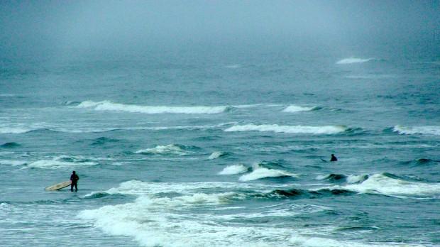 Ocean Beach, San Francisco today.  Sub par conditions?