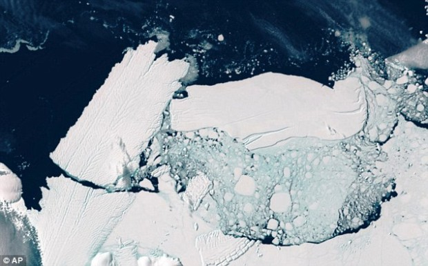 Two years ago, a 60-mile-long iceberg, known as B9B, detached from Antarctica: There is a fear the recently-discovered basin underneath the West Antarctic ice sheet could lead to similar collapses