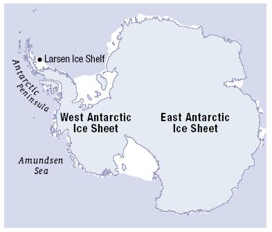 West Antarctic Ice Sheet map