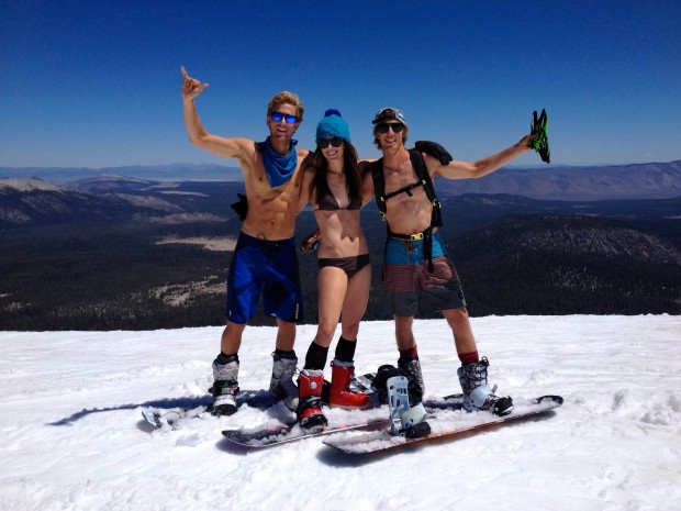Beautiful naked people at Mammoth today.