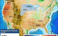 NOAA's July temperature outlook for the USA