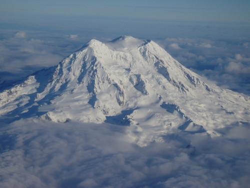 14,411-foot Mt. Rainier in winter