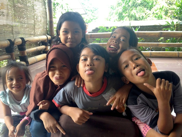 Local kids.  Kids in Indo are super friendly and curious about foreigners.