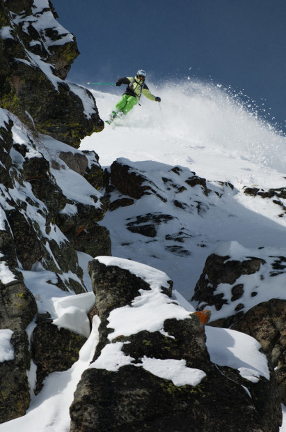 Matt Reardon getting giggy at Squaw.  Who are we kidding, this guy doesn't buy any gear.  photo:  Hank de Vre