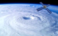 Huge Hurricane from space