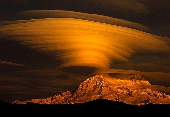 Rainier and Lenticular clouds