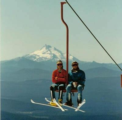 These guys know the end is near. Old Palmer Chairlift, Mt. Hood, OR. image: tom vance