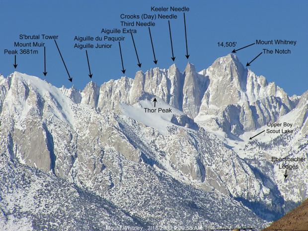 14,505' Mt. Whitney, CA.