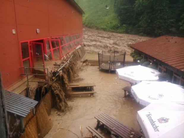 Vratna ski resort slovakia during the flood