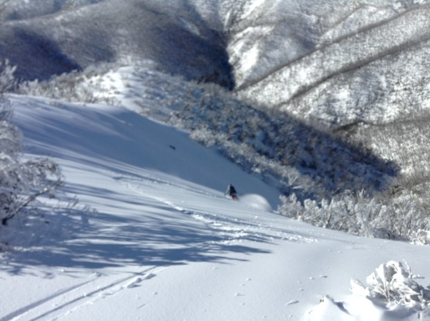 Rob getting some in the backcountry