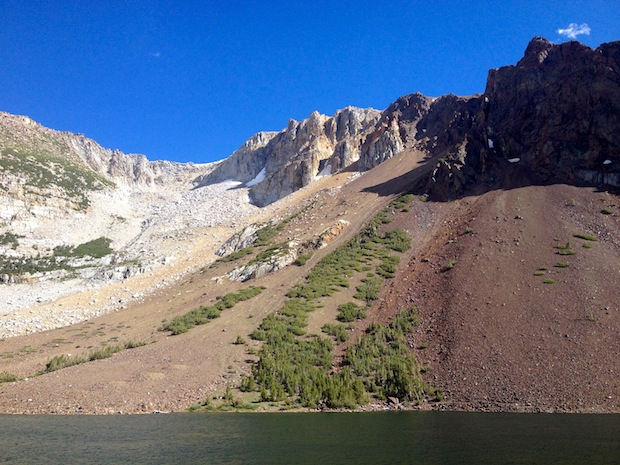 Ellery Bowl on Tioga Pass was great skiing this spring and is totally dry now.