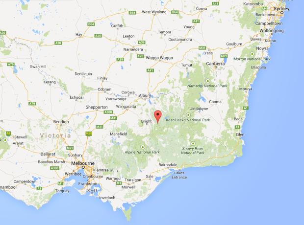 6,514-foot Mount Bogong, Australia map.