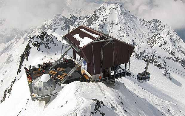 Top of the Mont Fort tram at Verbier, Switzerland