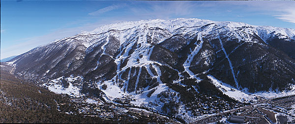 Thredbo ski resort, Australia.