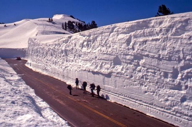 Mt. Lassen and some deep snow on June 1st, 1995.  photo:  eric knapp