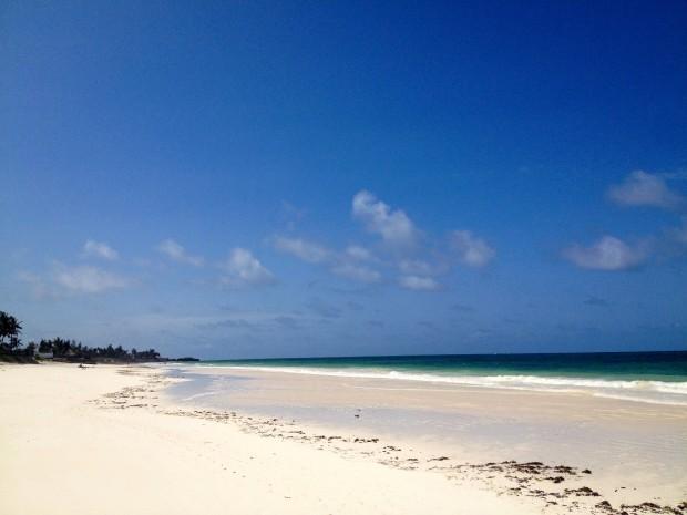 Bofa Beach.  Empty.