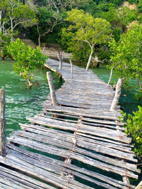 Looks can be deceiving. This pier just outside the gate of Distant Relatives, despite its lackluster, is one of the best places to spend a few hours reading and swimming in Kilifi Creek.