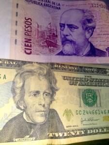 USD and Argie peso