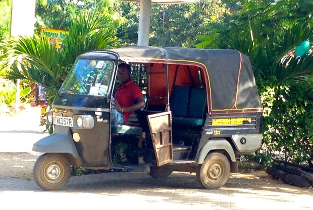 Local transport at it's best. Tuk-tuks are ATV-like vehicles with covered compartments. They feel safer than riding on the back of a motorbike, and are infinitely less expensive than taxis.