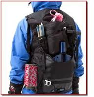 Backcountry vest with open carry system.  Dangerous.