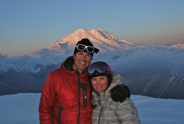 John and Kim Kircher at Crystal Mountain , WA.  photo:  kimkircher.com