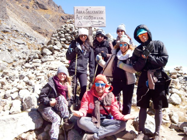 A few people from our group as we sat at the summit on the trail, very satisfied with what we had accomplished.