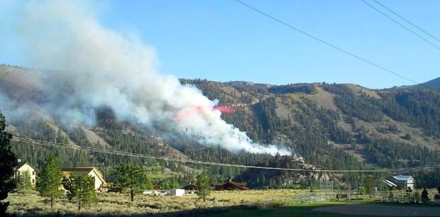 June Mountain fire on September 16th, 2014.  photo:  snowbrains.com
