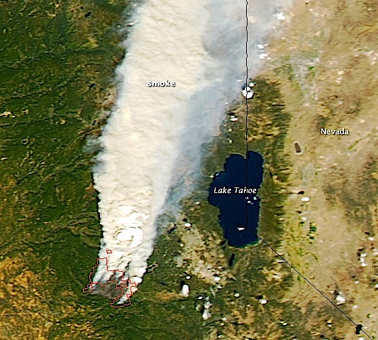king fire, ca from space