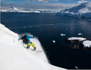 Jeremy Jones in Antarctica.  photo: restlessengergy.com