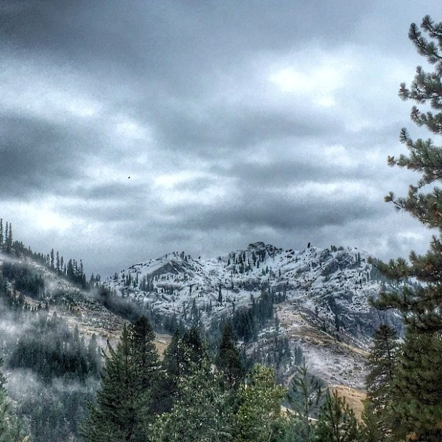 KT-22 at Squaw Valley with new snow this morning. photo: alpenglow expeditions