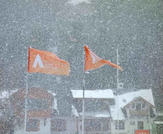 Catedral ski resort in Bariloche, Argentina was closed by this storm today. photo at 3:00pm today local time.