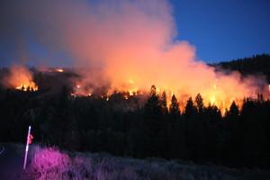 June Mountain fire on September 16th, 2014.  photo:  sierra wave